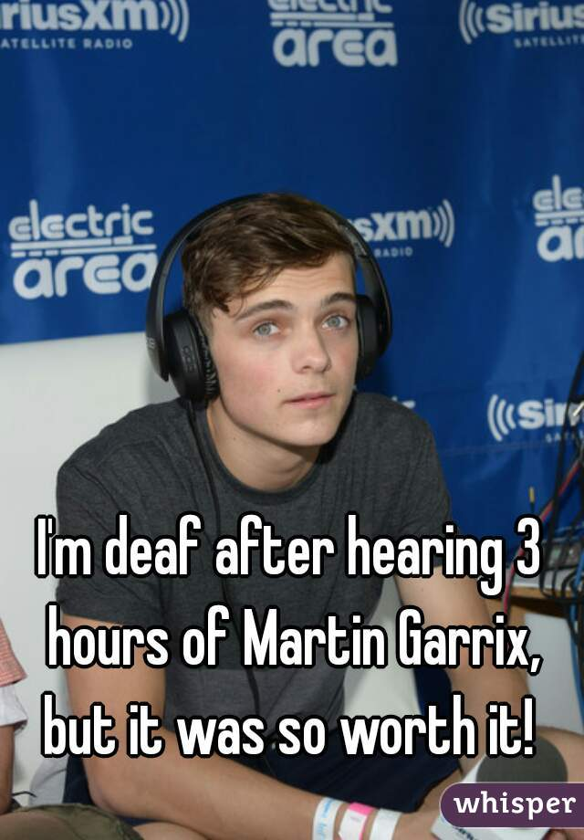 I'm deaf after hearing 3 hours of Martin Garrix, but it was so worth it!