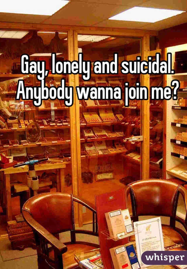 Gay, lonely and suicidal. Anybody wanna join me?