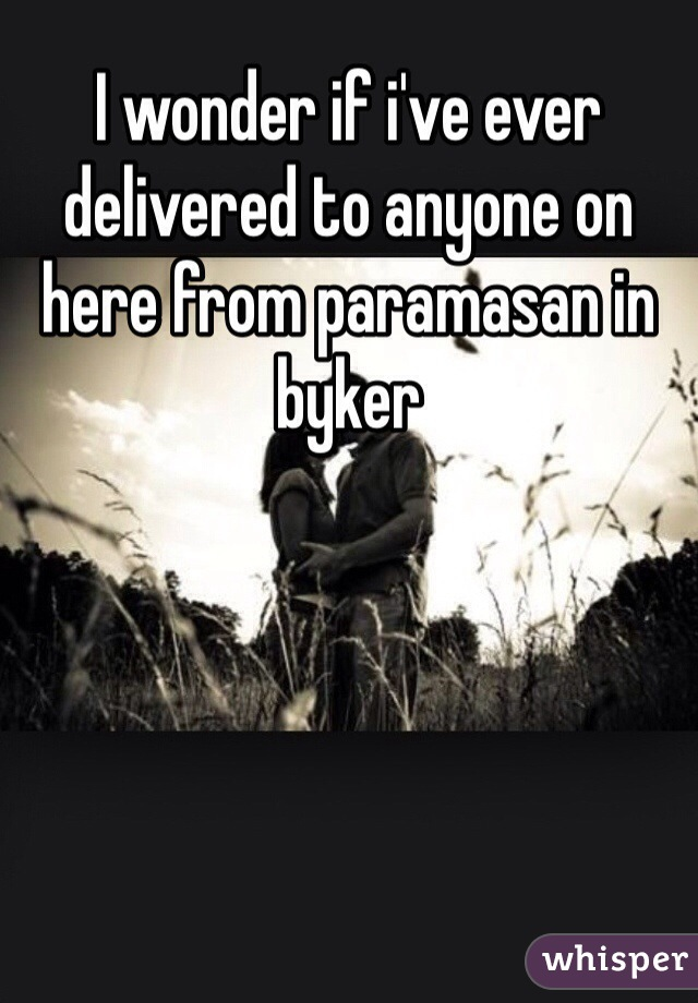 I wonder if i've ever delivered to anyone on here from paramasan in byker