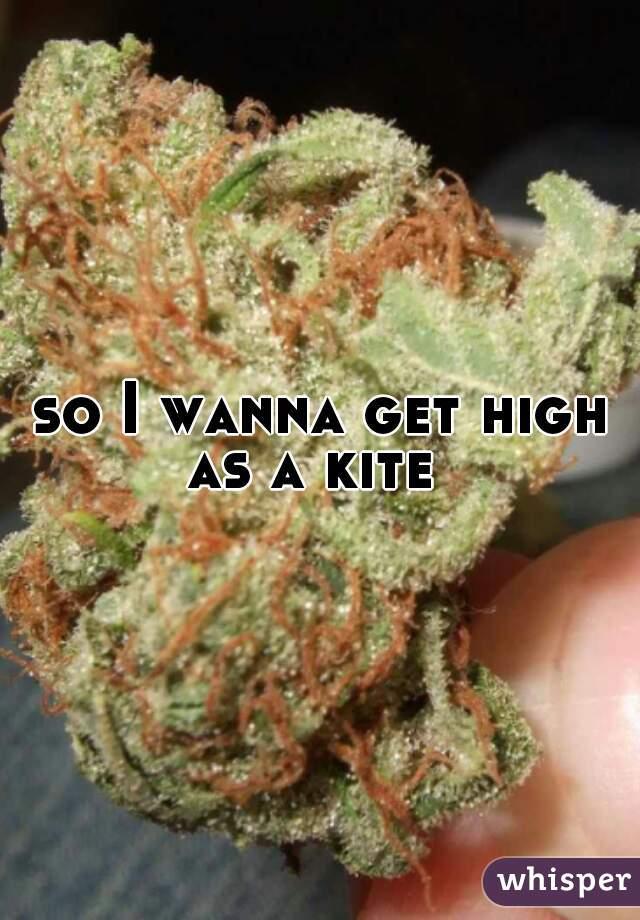so I wanna get high as a kite