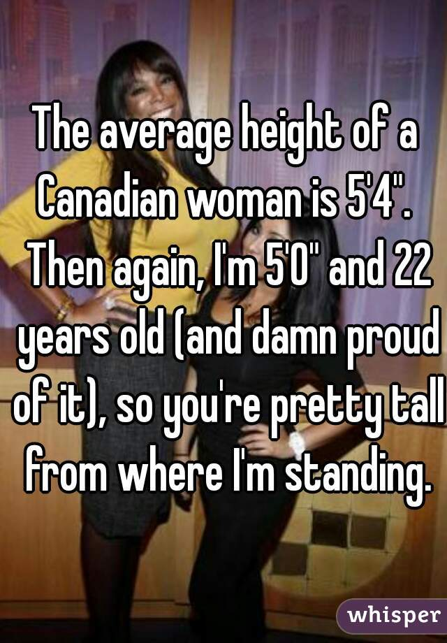 Average height canadian women