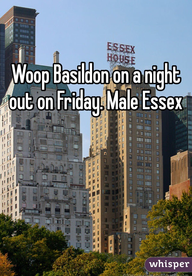Woop Basildon on a night out on Friday. Male Essex