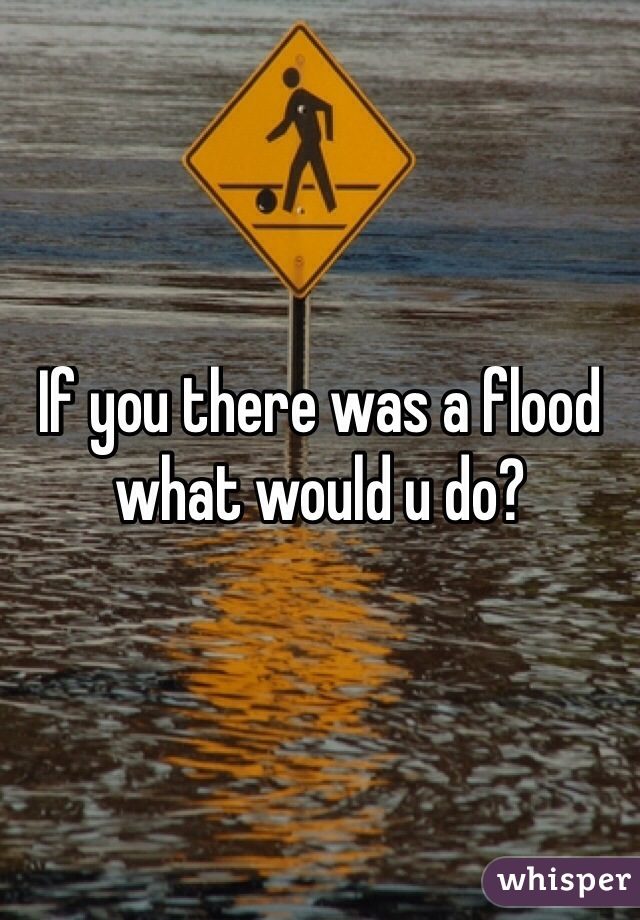 If you there was a flood what would u do?