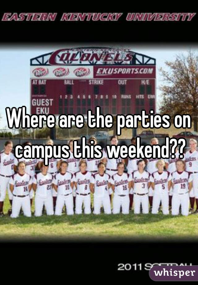 Where are the parties on campus this weekend??