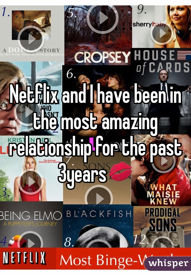 Netflix and I have been in the most amazing relationship for the past 3years💋