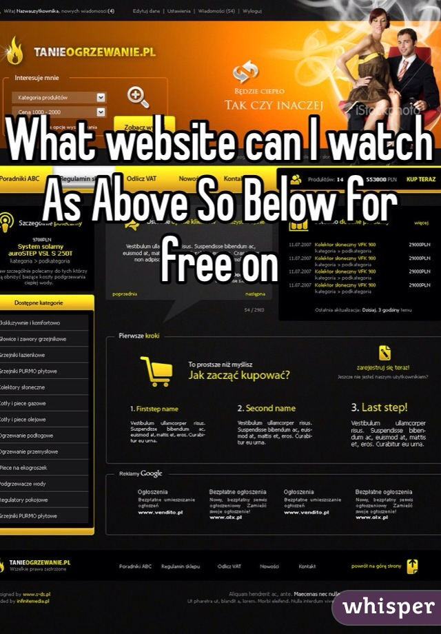 What website can I watch As Above So Below for free on
