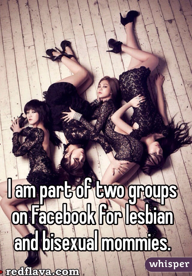 I am part of two groups on Facebook for lesbian and bisexual mommies.
