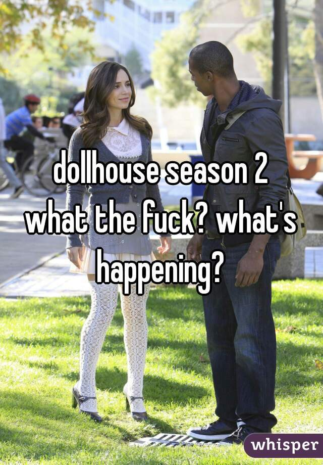 dollhouse season 2 what the fuck? what's happening?