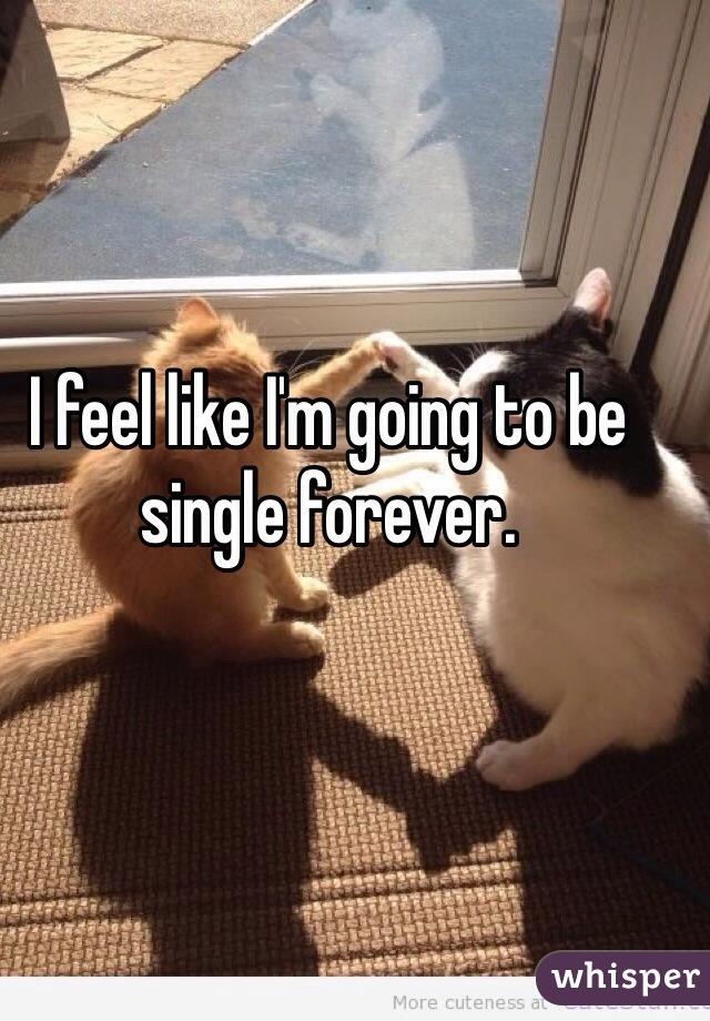 I feel like I'm going to be single forever.