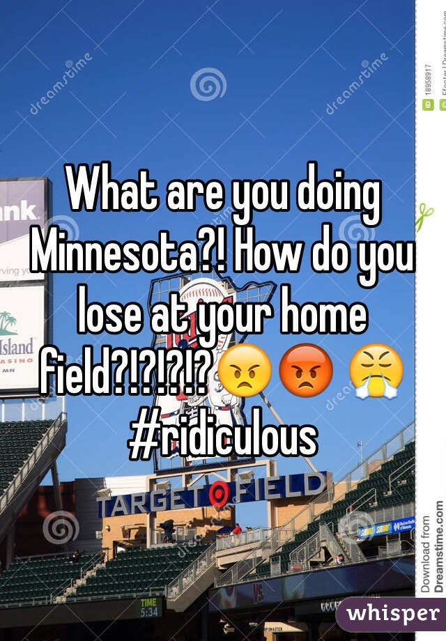 What are you doing Minnesota?! How do you lose at your home field?!?!?!?😠😡 😤#ridiculous