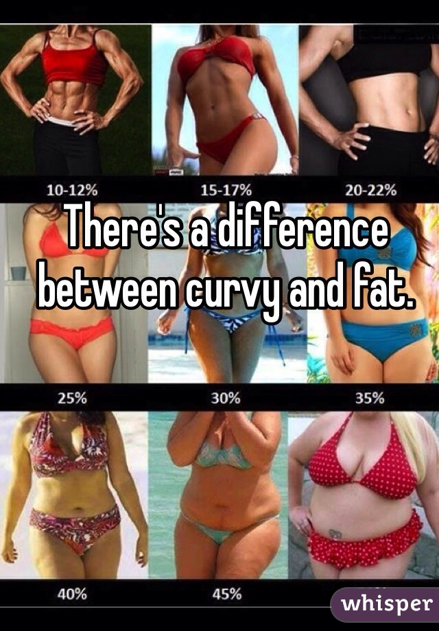 There's a difference between curvy and fat.