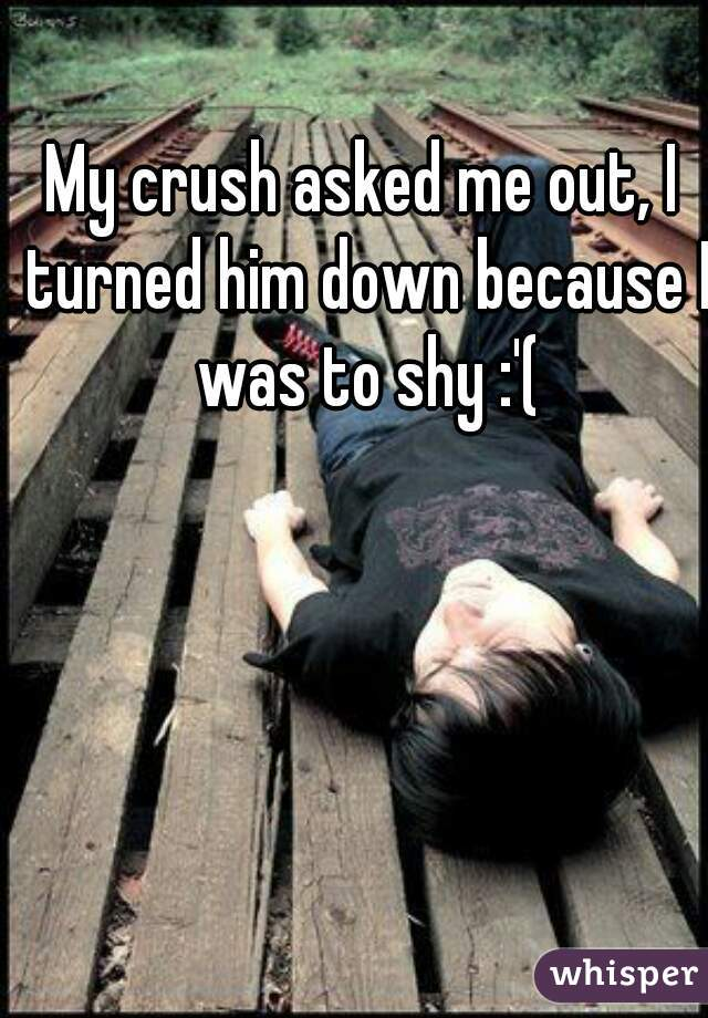 My crush asked me out, I turned him down because I was to shy :'(