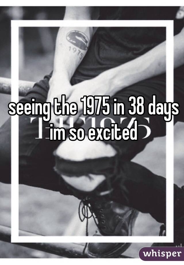 seeing the 1975 in 38 days im so excited