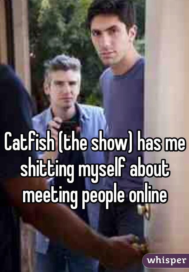 Catfish (the show) has me shitting myself about meeting people online