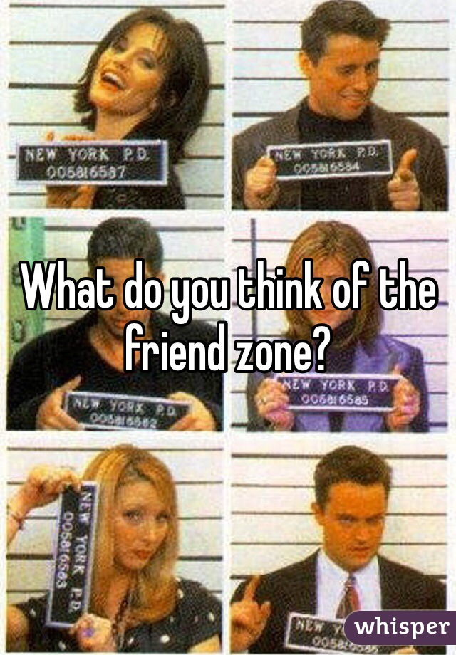 What do you think of the friend zone?