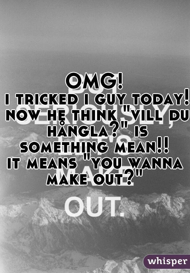 "OMG!  i tricked i guy today! now he think ""vill du hångla?"" is something mean!!  it means ""you wanna make out?"""
