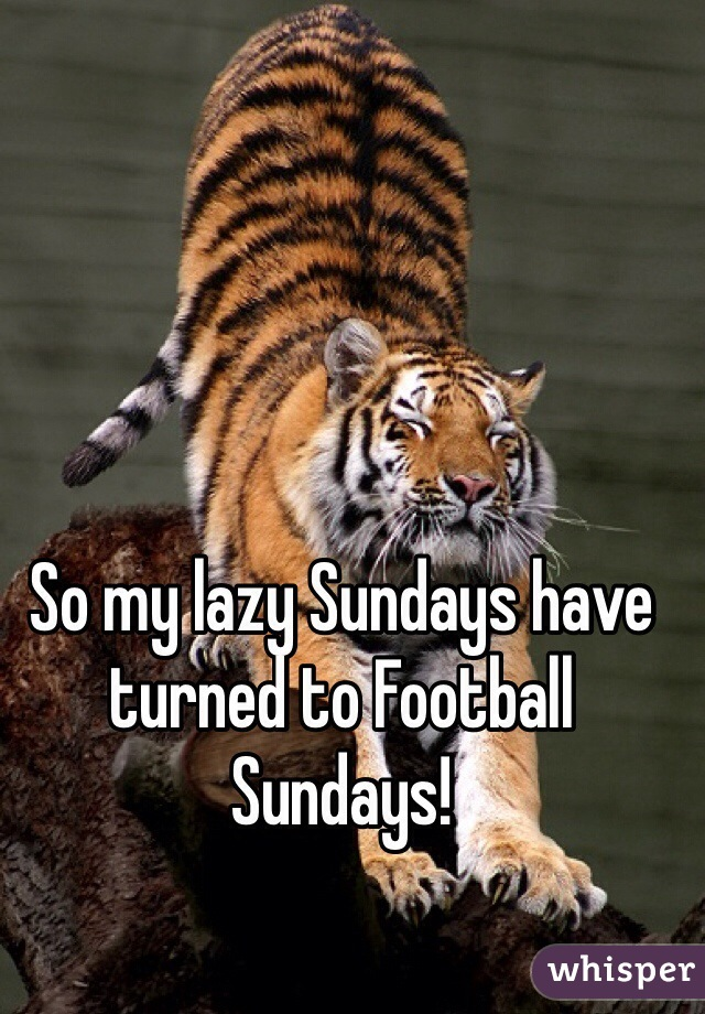 So my lazy Sundays have turned to Football Sundays!