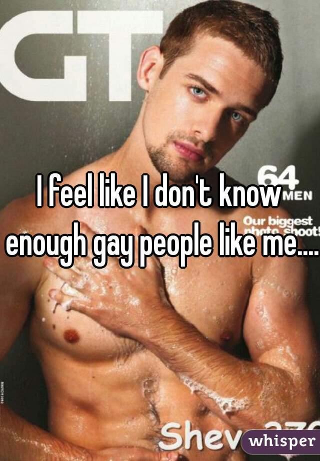 I feel like I don't know enough gay people like me....