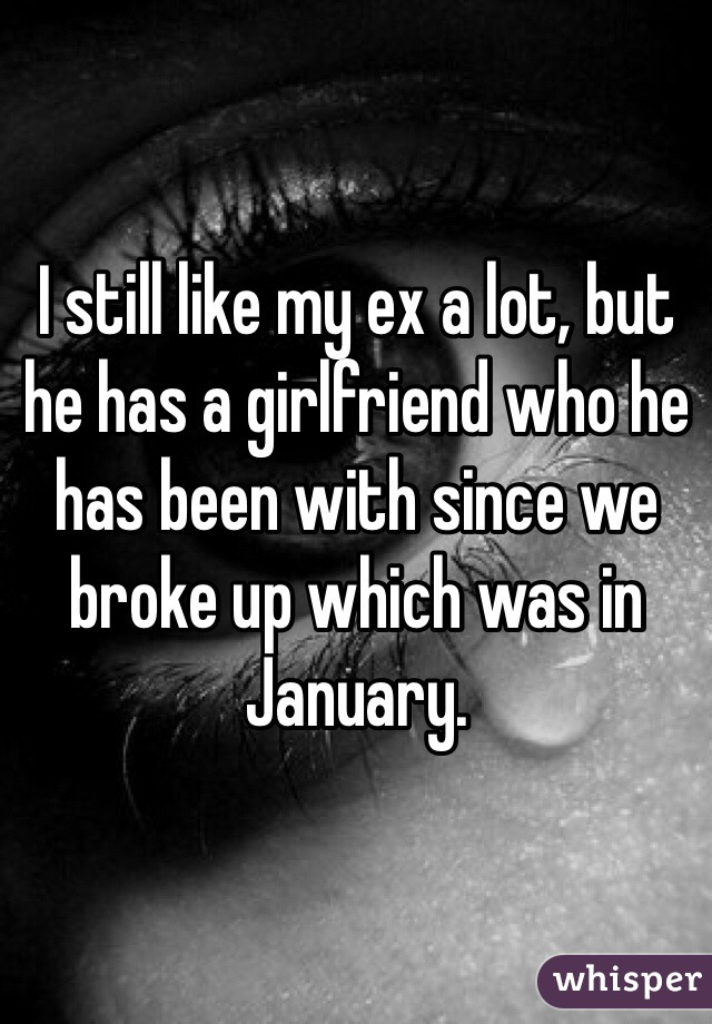 I still like my ex a lot, but he has a girlfriend who he has been with since we broke up which was in January.