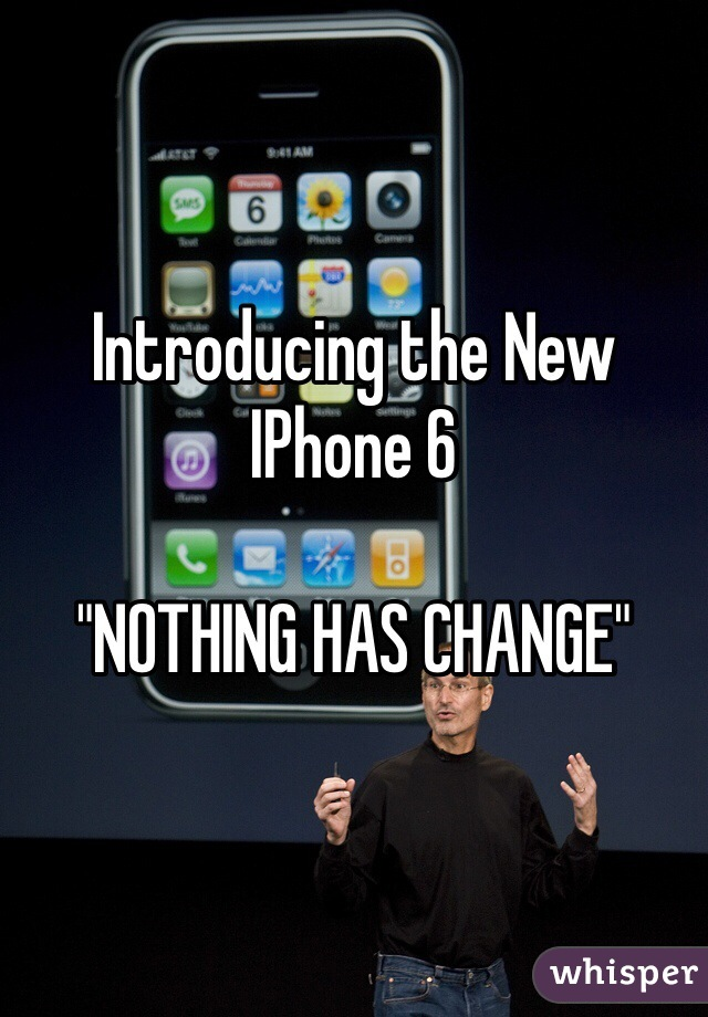 """Introducing the New IPhone 6   """"NOTHING HAS CHANGE"""""""