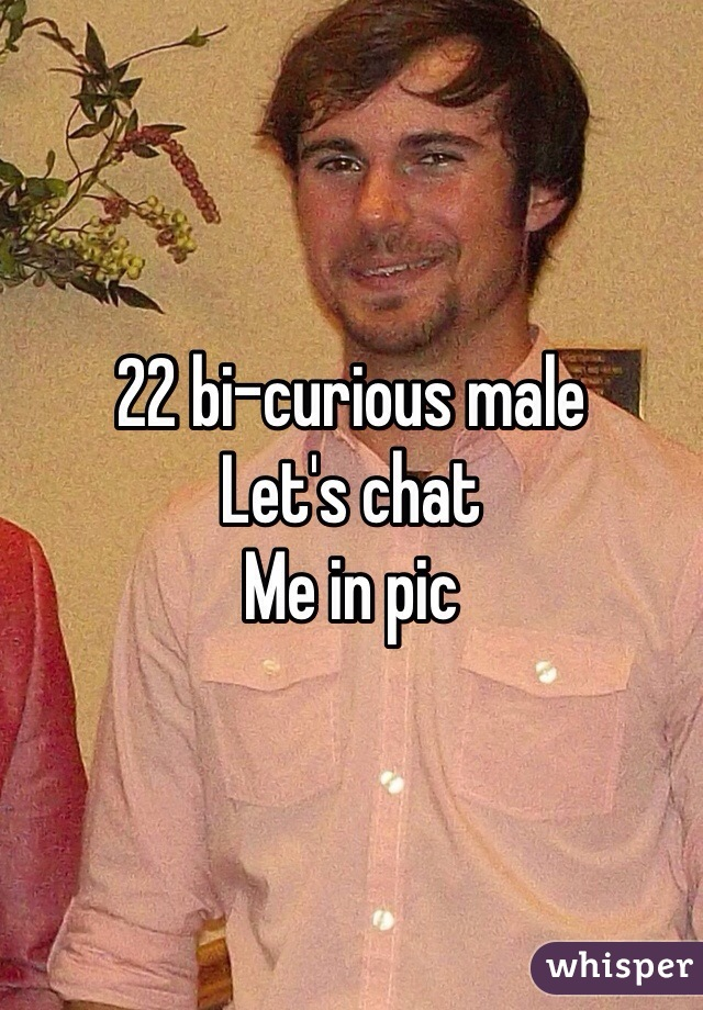 22 bi-curious male Let's chat Me in pic