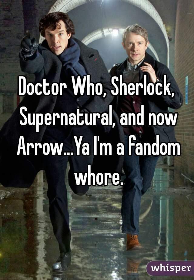 Doctor Who, Sherlock, Supernatural, and now Arrow...Ya I'm a fandom whore.