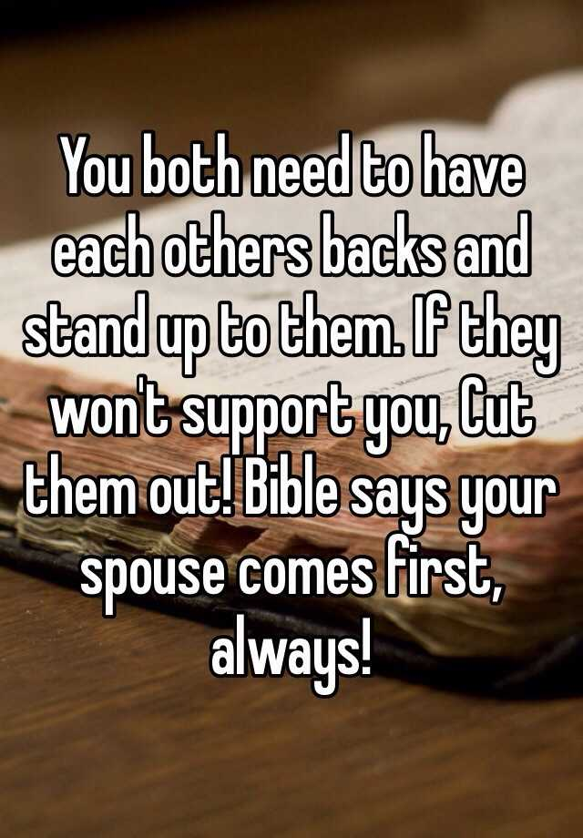 spouse comes first bible