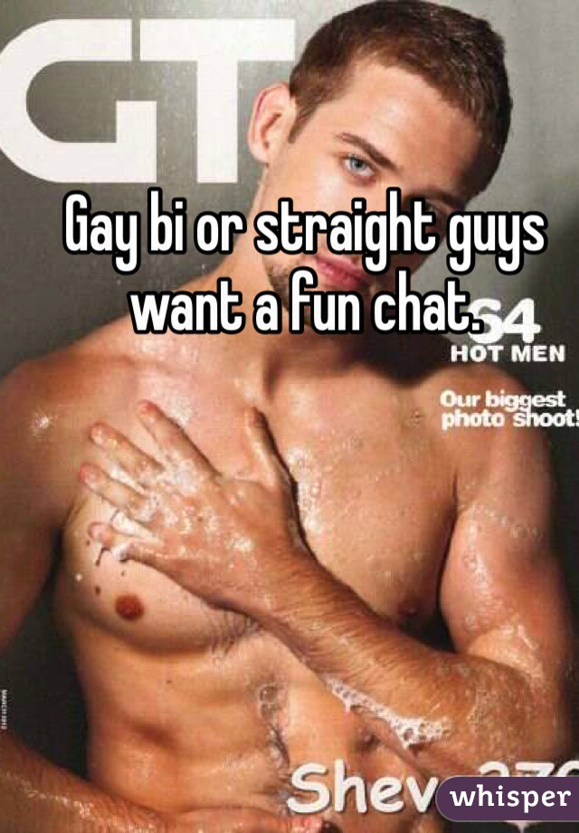 Gay bi or straight guys want a fun chat.
