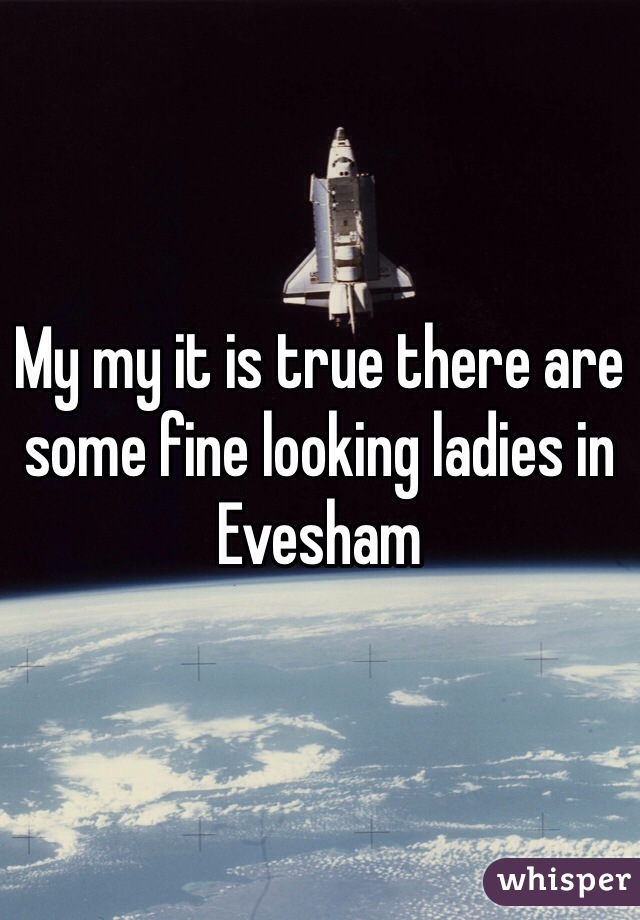 My my it is true there are some fine looking ladies in Evesham