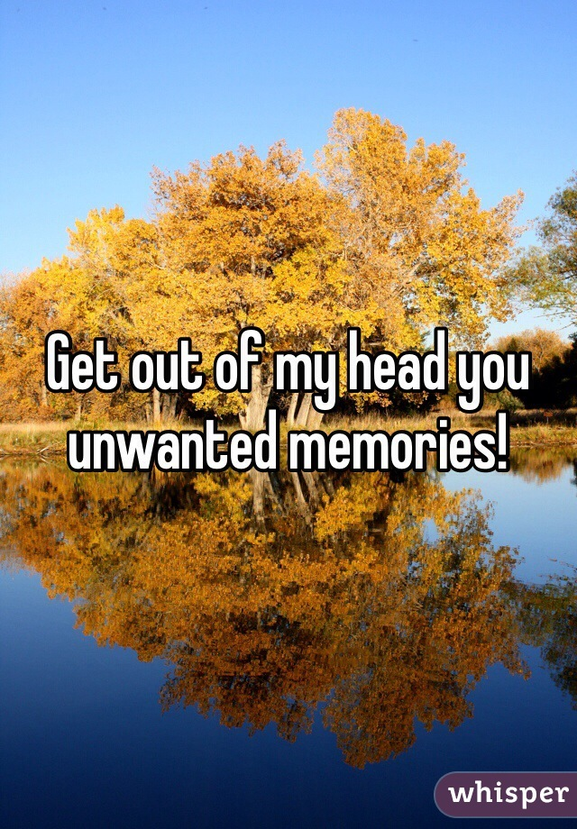 Get out of my head you unwanted memories!
