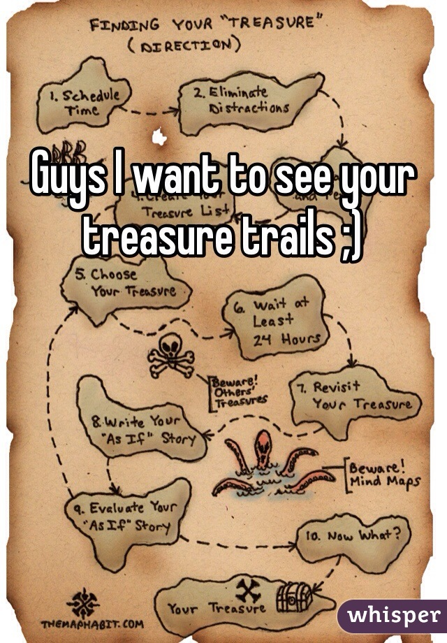 Guys I want to see your treasure trails ;)