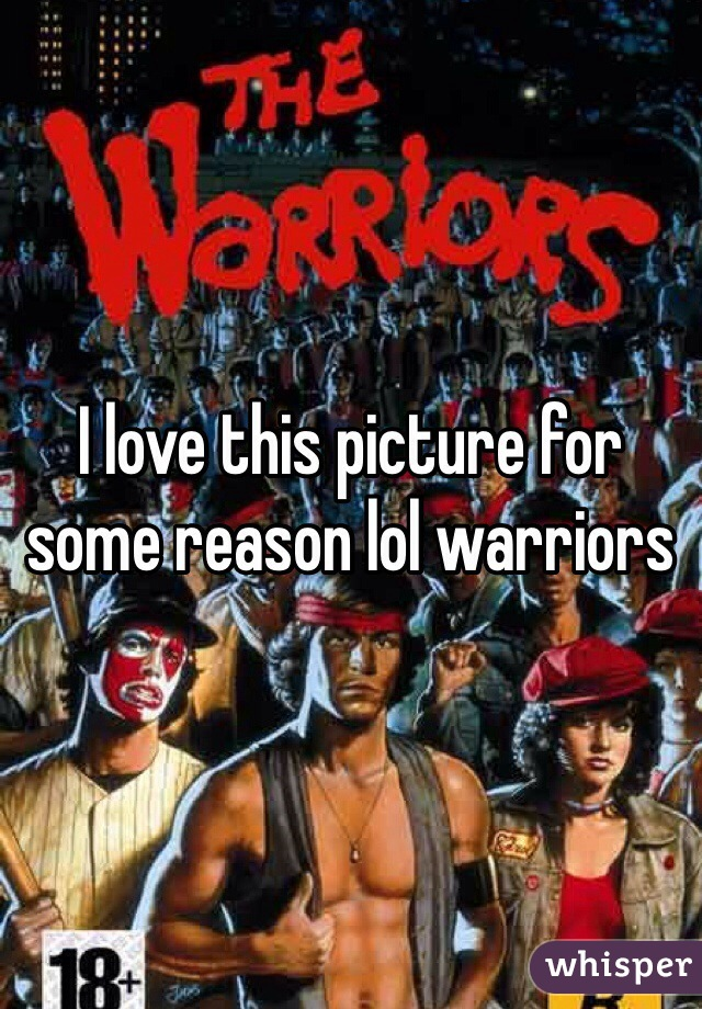 I love this picture for some reason lol warriors