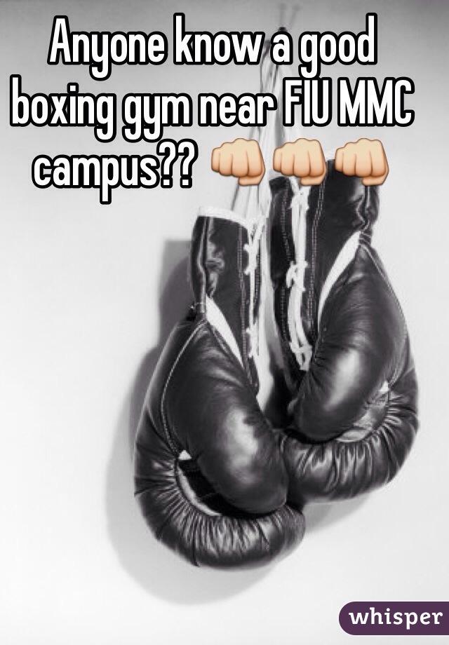 Anyone know a good boxing gym near FIU MMC campus?? 👊👊👊