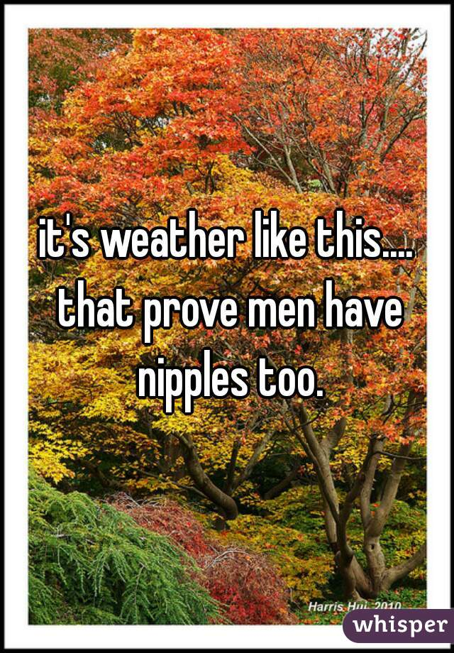it's weather like this.... that prove men have nipples too.