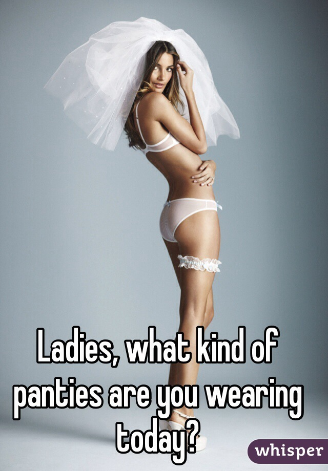 Ladies, what kind of panties are you wearing today?
