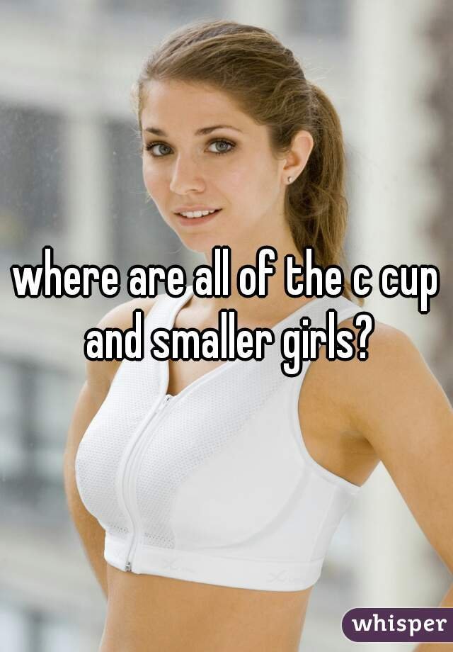 where are all of the c cup and smaller girls?