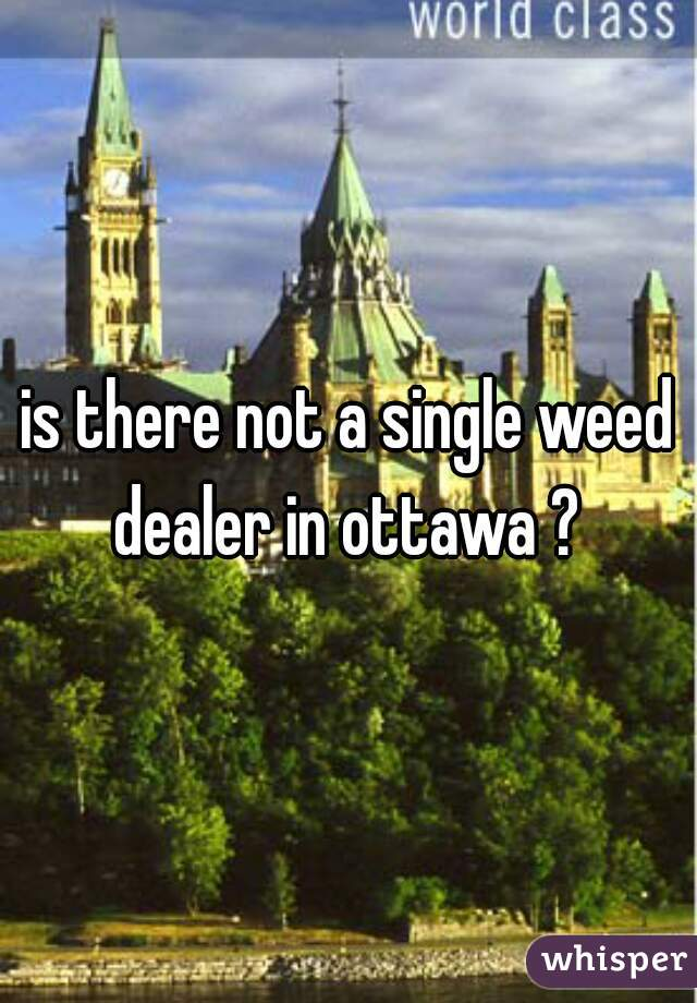 is there not a single weed dealer in ottawa ?