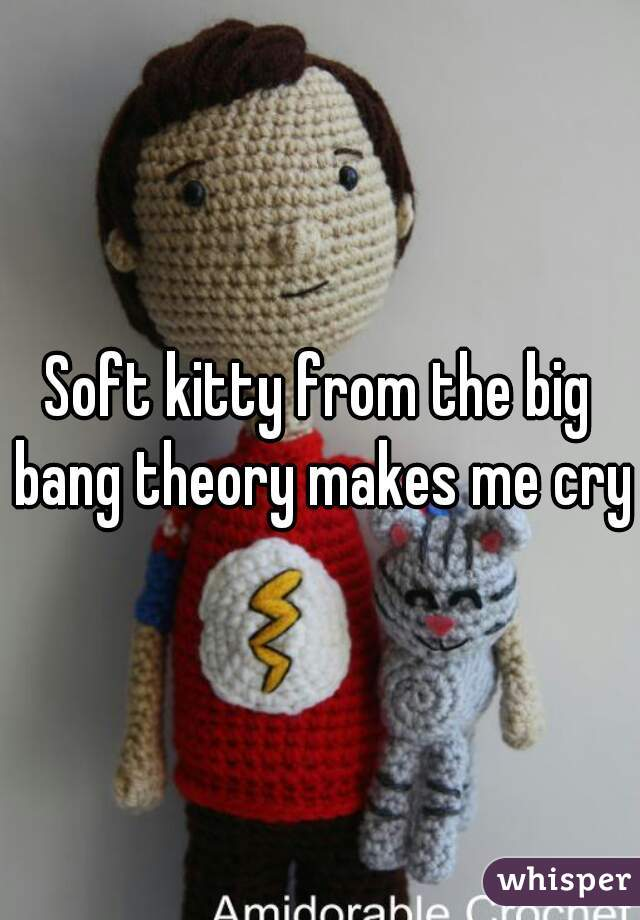 Soft kitty from the big bang theory makes me cry