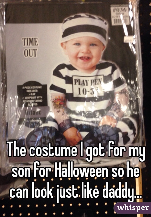 The costume I got for my son for Halloween so he can look just like daddy...