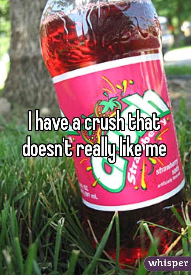 I have a crush that doesn't really like me