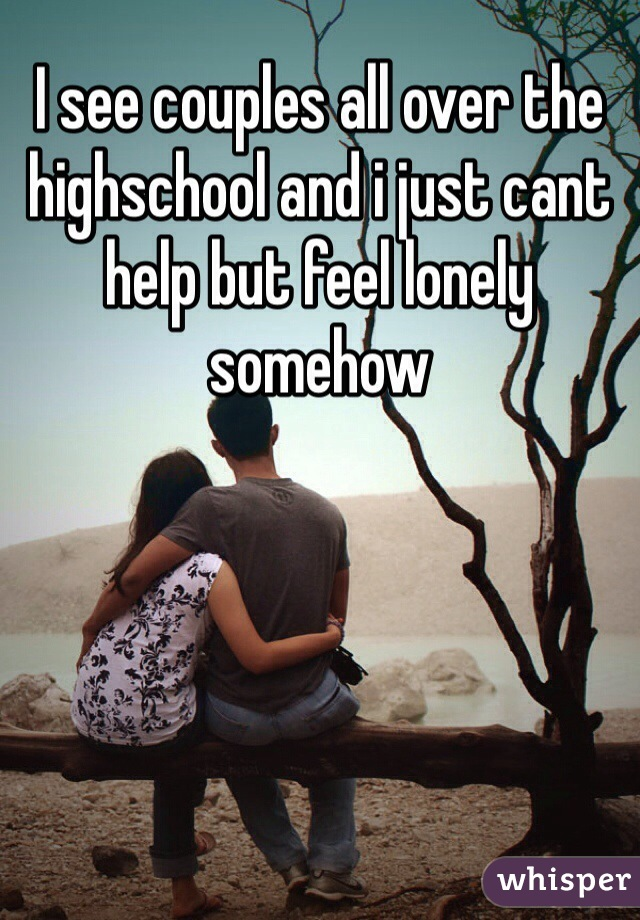 I see couples all over the highschool and i just cant help but feel lonely somehow