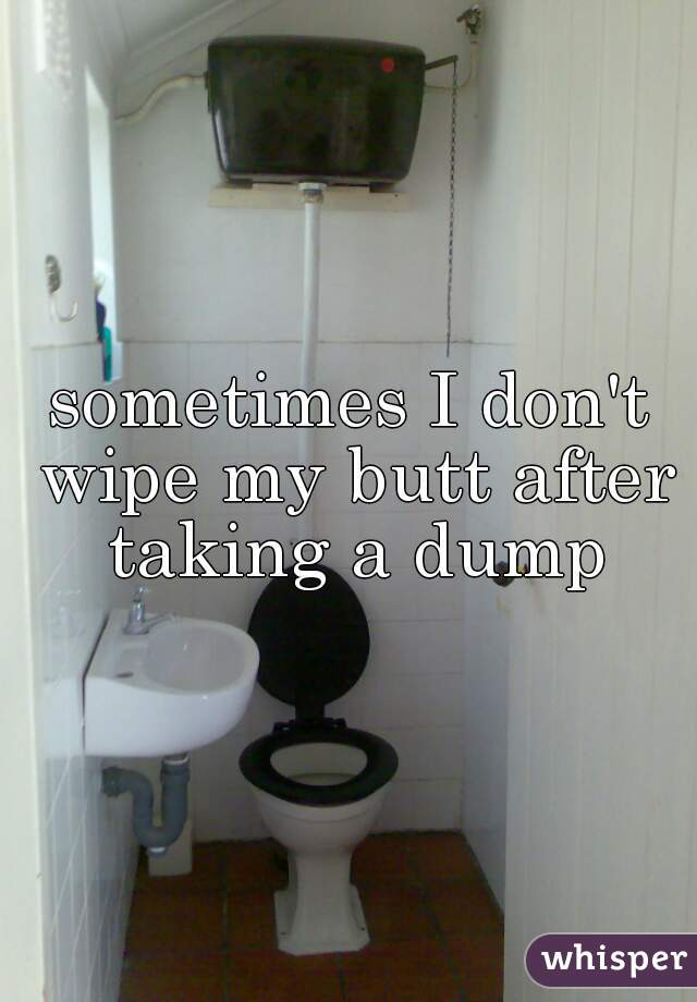 sometimes I don't wipe my butt after taking a dump
