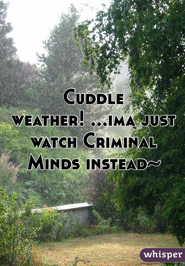 Cuddle weather! ...ima just watch Criminal Minds instead~