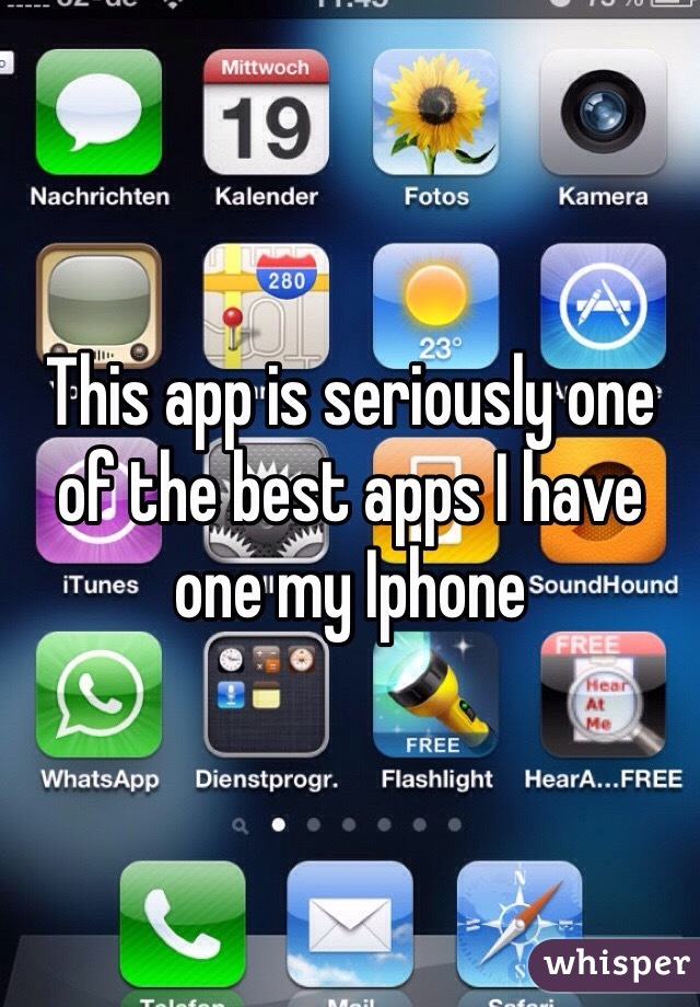 This app is seriously one of the best apps I have one my Iphone