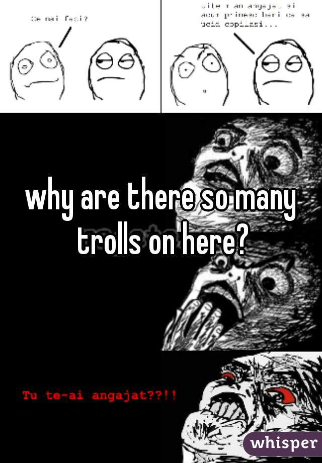 why are there so many trolls on here?