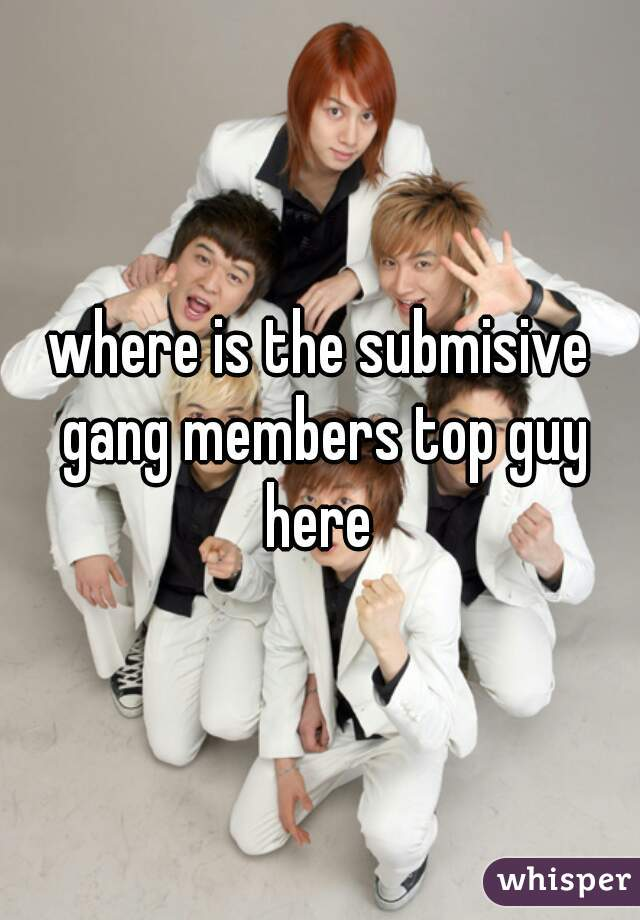 where is the submisive gang members top guy here