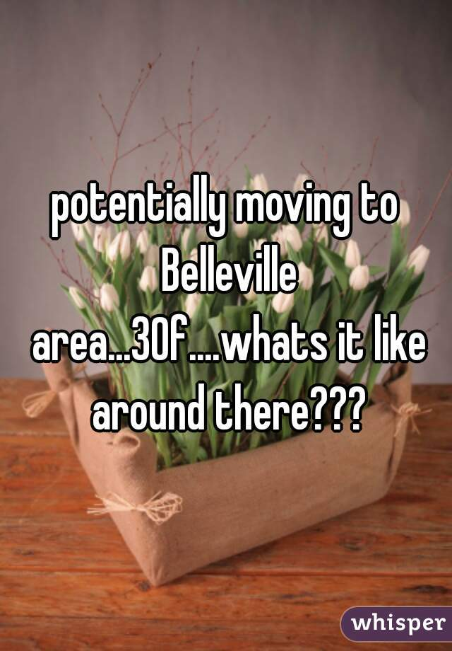 potentially moving to Belleville area...30f....whats it like around there???