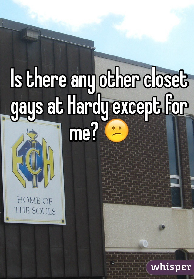 Is there any other closet gays at Hardy except for me? 😕
