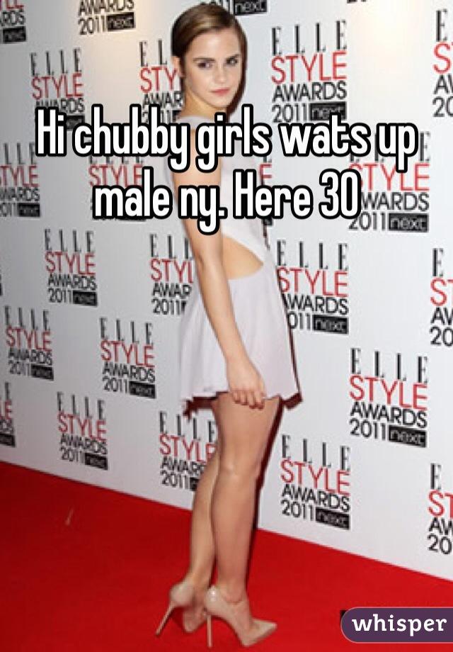 Hi chubby girls wats up male ny. Here 30