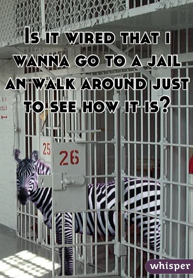 Is it wired that i wanna go to a jail an walk around just to see how it is?